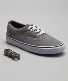 Look what I found on #zulily! Gray Classic Low Sneaker #zulilyfinds