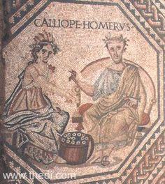 Ancient Greek & Roman Mosaic: The Nine Muses