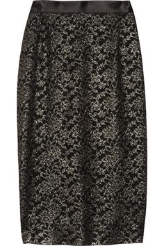 Candy metallic lace pencil skirt