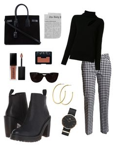 """""""Taking on Monday"""" by camibird on Polyvore featuring Dr. Martens, Blumarine, A.L.C., Yves Saint Laurent, Dyrberg/Kern, Daniel Wellington, Smashbox, NARS Cosmetics and Tiffany & Co."""