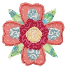 Raggedy Flowers Applique 15 - 2 Sizes! | Floral - Flowers | Machine Embroidery Designs | SWAKembroidery.com