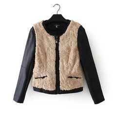 那拉时尚完美店,夹克,米色,黑色