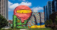 Conheça a vida e as principais obras dos grafiteiros OSGEMEOS