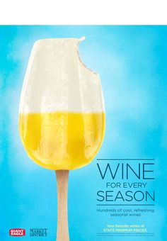 Wine Poster, Popsicles, Wines, Liquor, Juice, Champagne, Ads, Tattoo, Summer