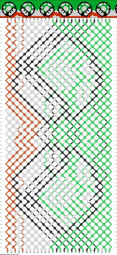 FRIENDSHIP BRACELET - SUPER MARIO NINTENDO - LUIGI - Friendship Bracelet Pattern -- 1-up Mushroom