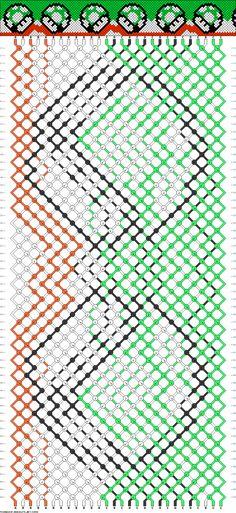 Friendship Bracelet Pattern -- 1-up Mushroom