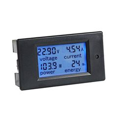 bayite DC 6.5-100V 0-100A LCD Display Digital Current Voltage Power Energy Meter Multimeter Ammeter Voltmeter with 100A Current Shunt Bayite http://www.amazon.com/dp/B013PKYILS/ref=cm_sw_r_pi_dp_aQGKwb0DYFT35