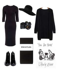 """""""Lydia Deetz costume (Beetlejuice)"""" by fortunecookie07 ❤ liked on Polyvore featuring Topshop, Whistles, Opening Ceremony and Eugenia Kim"""
