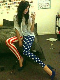 Kids in Amerika Leggings - Fourth of July outfit!!