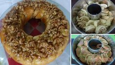 Diótekercs kuglóf mézes dióval | TopReceptek.hu Bagel, Doughnut, Sweets, Bread, Baking, Food, Drinks, Fitness, Basket