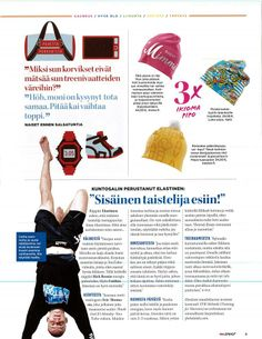 SUPERYELLOW MAYA-beanie in the new MeNaiset Sport magazine.. Perfect for Easter time!