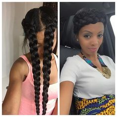 Flashback to the halo braid this style was acheived by Applying some mint almond oil on my hair and scalp and a little avocado hair milk to my ends braided and wrapped around forming a crown....very simple and cute style!