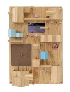 SELETTI PORTE OBJETS MURAL SUBURBIA (NATUREL - BOIS) Mobilier Design Pas  Cher, Mobilier b0cc3004cd48