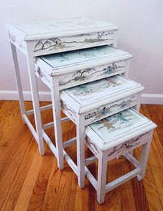 Hey, I found this really awesome Etsy listing at https://www.etsy.com/listing/455292840/vintage-chinese-export-nesting-tables