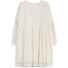 Mini Lace Empire Dress ($73) ❤ liked on Polyvore featuring dresses, mini dress, vestidos, winter white dress, navy dress, lace dress and navy blue short dress