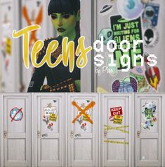 Teen's DOOR SIGNS DOWNLOAD SFS