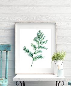 Botanical Print Set Large Printable Watercolor Illustration image 8 Botanical Wall Art, Botanical Prints, Watercolor Print, Watercolor Illustration, Watercolour Painting, Watercolors, Leaf Prints, Wall Art Prints, Fern Plant