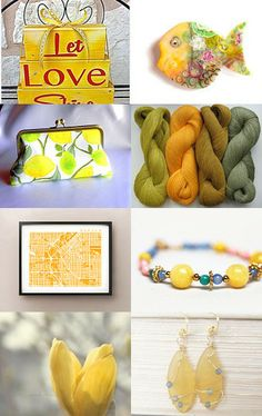 Pretty Yellow by Paula on Etsy--Pinned with TreasuryPin.com