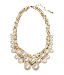 Short Beaded Necklace-H&M