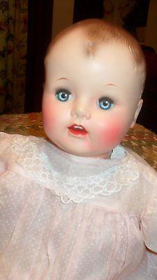 vintage baby doll  21  ideal hard plastic head, vinyl limbs