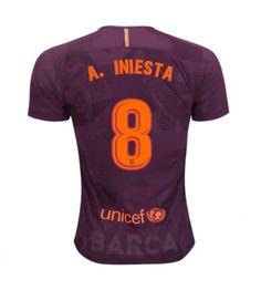 Barcelona Andres Iniesta 8 Derde Tenue 17-18 Korte Mouw