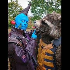 On Valentinesday even a space-pirate and an aggressive raccoon have their romantic moments 😂❤💙 Just a fun pic taken at MMC last year 😉  #valentinesday #funpic #romantic #gotg #gotgvol2 #gotgcosplay #guardiansofthegalaxyvol2 #guardiansofthegalaxy #guardiansofthegalaxycosplay #marvel #mcu #marveluniverse #marvelcosplay #cosplay #cosplaylife #costume #rocket #rocketraccoon #rocketcosplay #rocketraccooncosplay #yondu #yonduudonta #yonducosplay #germancosplay #moviecosplay…