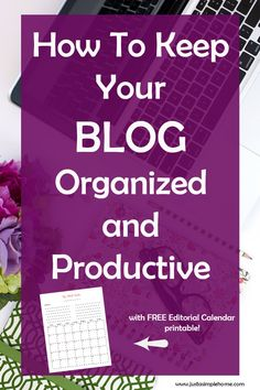 Free Editorial Calendar! Need some help with your blog organization? Download this free printable editorial calendar and see what a difference it makes in your productivity. You can plan your posts a month ahead and never run out of content. It's pretty and functional!