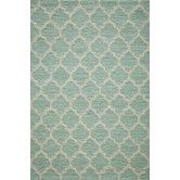 Found it at Wayfair - Geo Sky Blue Hooked Area Rug
