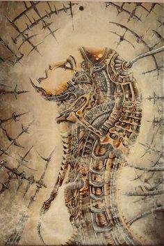 E.G.ART / Maľba na skle - Biomechanic Sculpture Art, Fantasy Art, Artwork, Pictures, Work Of Art, Fantastic Art, Auguste Rodin Artwork, Artworks, Fantasy Artwork