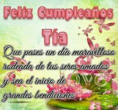 Frases Bonitas Para Facebook: Imagen Feliz Cumpleaños Para Mi Tia Hermosa