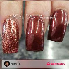 Really pretty nail art for fall autumn season! | ideas de unas | acrylic and gel nails idea