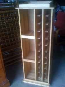 Simple Homemade Wine Rack