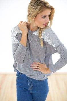 Größe M/L <3  Shirt+Sugarlove+in+grau+von+SHOKO+Shop+auf+DaWanda.com