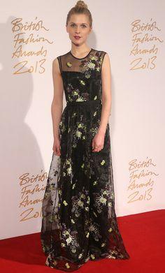 Clemence Poesy British Fashion Awards 2013