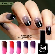 Verntion Soak-off Gel Nail LED professional Temperature Change Color UV Gel Polish Thermal Mood Changing Nail Varnish