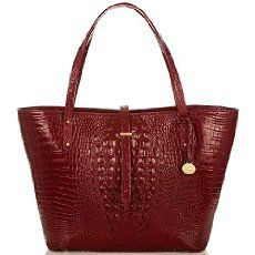 The Brahmin All Day Tote in Carmine Red Melbourne