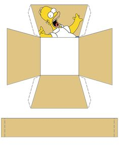 """The Simpsons """"Homer"""" Basket .... free to use and free to share for personal use. <3"""