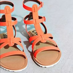 Circus by Sam Edelman • Selma Sandal Selma sandal from Circus by Sam Edelman. The color is called orange but it actually looks like a neon pink. Really cute gladiator style sandals in smooth vegan leather with adjustable buckle straps at the ankle. ••• Brand new - never been worn and in perfect condition ••• do not have the box Sam Edelman Shoes Sandals