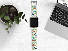 Party Dinosaur Apple Watch Band for Apple Watch Series 3 Apple Watch Series 2 Apple Watch Series 1 - Applewatch - Ideas of Applewatch - Party Dinosaur Apple Watch Band for Apple Watch Apple Watch 38, Apple Watch Iphone, Apple Watch Series 2, Apple Watch Bands, Iphones For Sale, Unlock Iphone, Iphone Stand, New Ipad Pro, Latest Iphone