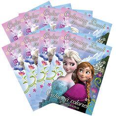Frozen Mini Coloring Books Favors 8ct
