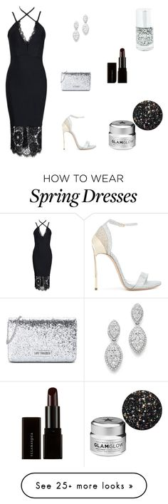 """""""Untitled #216"""" by impaviid on Polyvore featuring Bloomingdale's, Love Moschino, Casadei, Illamasqua and GlamGlow"""