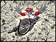 "Damian Fulton ""Radical Rick"" DA10 Poster – Dine Alone 10 Year Store"