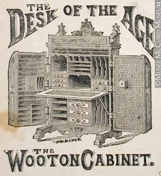 Wooten Cabinet Desk Furniture advertisement. Come see our example in the Hamilton sitting room.