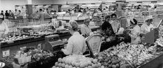 shopping in the late 1950's.