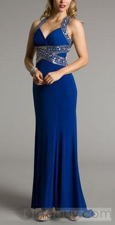 """Cobalt Blue """"Goddess"""" Dress"""