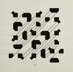 Bruno Munari (1907-1998) Curve di Peano 1975 silkscreen and marker on paper cm. 50x50 Signature o