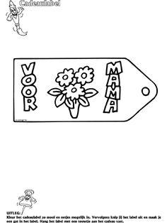 Kleurplaat hart/ valentijn/ moederdag/ vaderdag