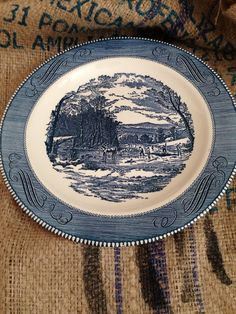 We had this set of Currier and Ives dishes when I was a kid. Wonder where they are today?