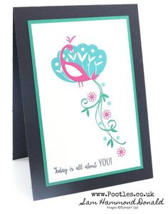 Stampin' Up! #1 Demonstrator Pootles - Beautiful Peacock Free Stamp Set and Clashing Colours!