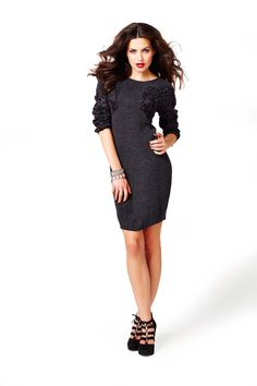 Sweater dresses are in this fall! Wear this sexy cheetah print dress to a happy hour date!